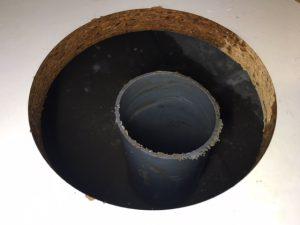 排水管の中