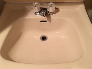 洗面所での水漏れ