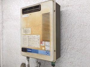 ガス給湯器の不具合