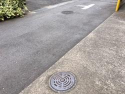 私道での屋外下水つまり