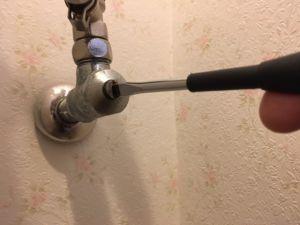 ドライバー式止水栓の場合