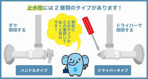 止水栓には2種類のタイプがあります!