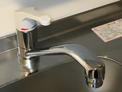 ワンホール(一穴)シングルレバー混合水栓の場合