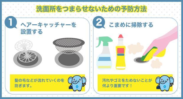 洗面所をつまらせないための予防方法